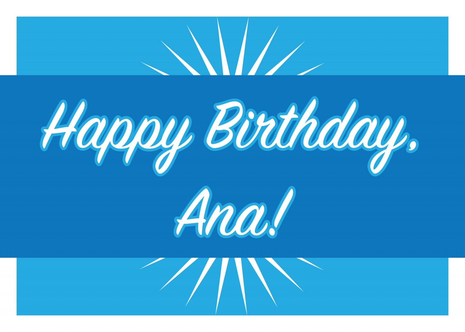 Happy Birthday Ana Officenters Innovative Office